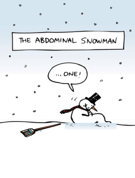 Abdominal Smowman Holiday Greeting Card