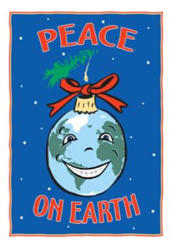 Peace on Earth Holiday Postcard