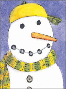 Snowman With Braces Holiday Postcard
