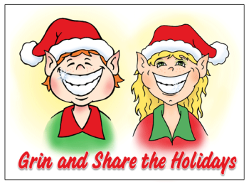 Grin And Share The Holidays Greeting Card