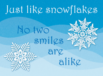 Snowflakes Holiday Postcard
