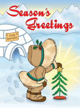Eskimo Christmas Tree Holiday Postcard