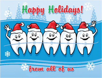 Molars With Hats Holiday Postcard