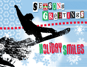 Snowboard Holiday Postcard