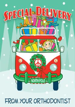 Special Delivery Van Holiday Postcard