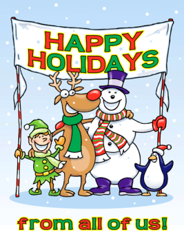 Happy Holidays Banner Holiday Greeting Card