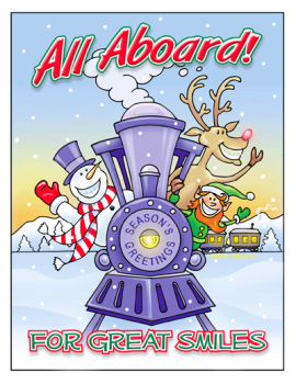 All Aboard Holiday Postcard