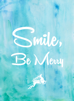 Smile Be Merry Holiday Greeting Card