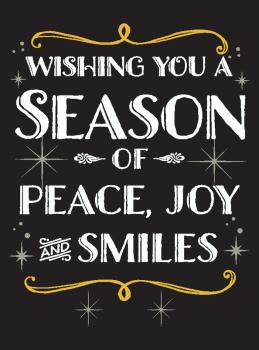 Season of Peace Joy & Smiles Holiday Greeting Card