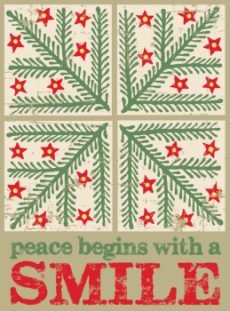 Peace Begins With A Smile Holiday Postcard