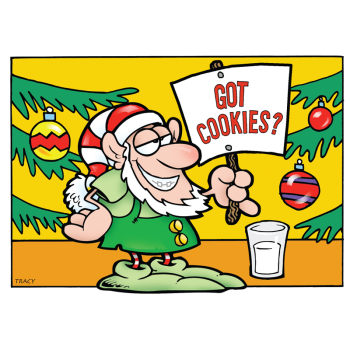 Got Cookies Elf Holiday Greeting Card