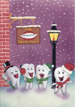 Caroling Molars Holiday Greeting Card