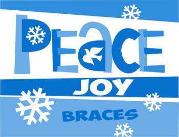Peace Joy Braces Holiday Postcard