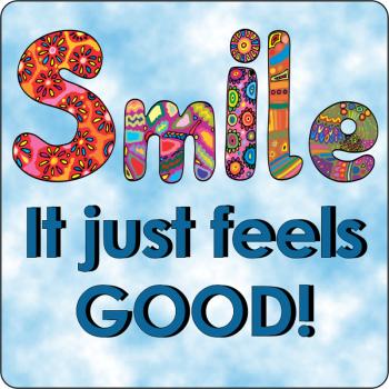 Smiles Feel Good Sticker
