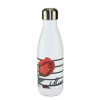 Sublimated 17oz White Water Bottle