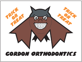 Bat with Braces Halloween Temporary Tattoos