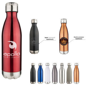 Laser Engraved 17oz Double Wall Stainless Vacuum Bottle