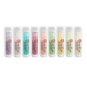 Colorful Lip Balm with Smile Design