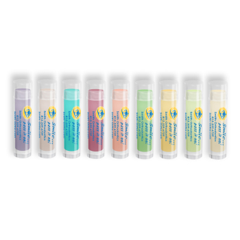 Colorful Lip Balm with Smile Pass It On Design