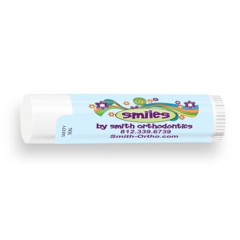 All Natural Lip Balm with Smile Flower Design