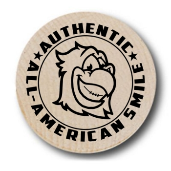 All-American Smile Eagle Wooden Nickels