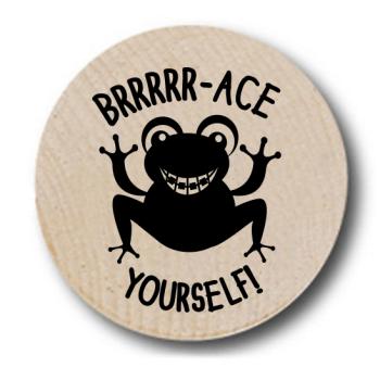Frog Brace Wooden Nickels