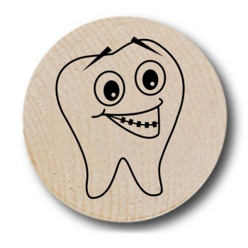 Molar Smile Wooden Nickels