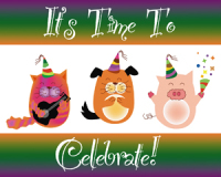 It's Time To Celebrate Birthday Postcard