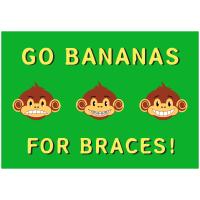Go Bananas For Braces Postcard