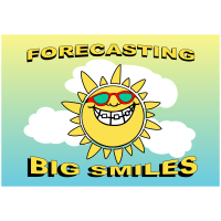 Forecasting Big Smiles - Landscape - Greeting Card