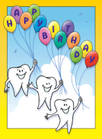 Floating Molar Birthday Greeting Card