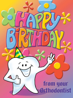 Pastel Birthday Greeting Card with Tooth