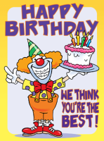 Clown Birthday Greeting Card
