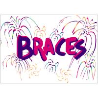 Braces Fireworks Greeting Card