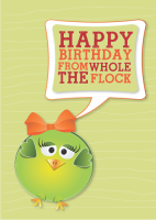 Happy Birthday from The Whole Flock Greeting Card
