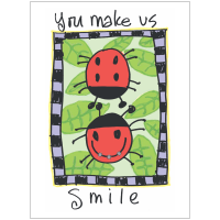 Ladybug Friends Thank You Greeting Card