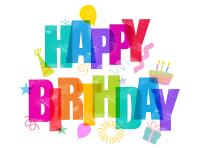 Rainbow Happy Birthday Greeting Card