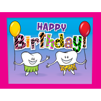 Cave Molars Birthday Greeting Card