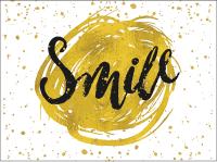 Gold Smile Greeting Card