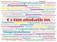 Congratulations Word Cloud Deband Greeting Card