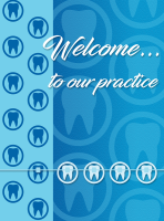 Blue Braces Welcome Greeting Card