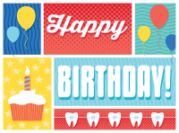 Cake and Braces Birthday Greeting Card