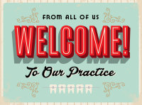 Retro Welcome Greeting Card