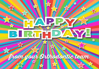 Colorful Stars Birthday Greeting Card