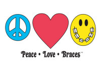 Peace-Love-Braces Welcome Greeting Card