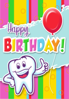 Happy Birthday Molar Greeting Card