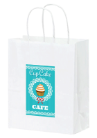 Color Evolution White Kraft Paper Supply Bag