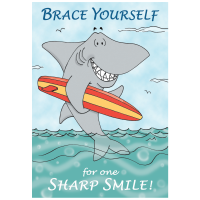 Sharp Smile Shark Welcome Greeting Card