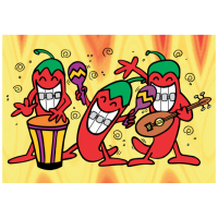 Red Hot Chili Pepper Greeting Card