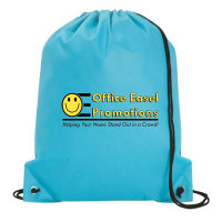 Economy Drawstring Backpack - Full Color Imprint